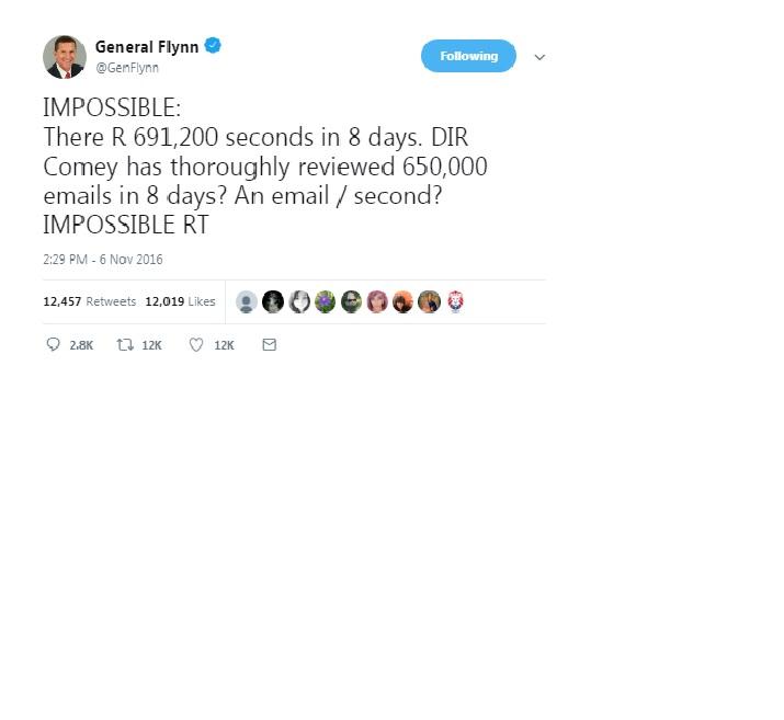 Flynn email tweet