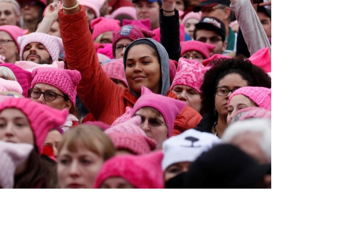 womans march pink hats