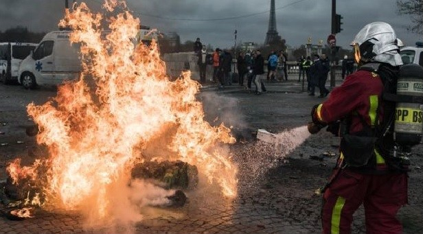 France on fire